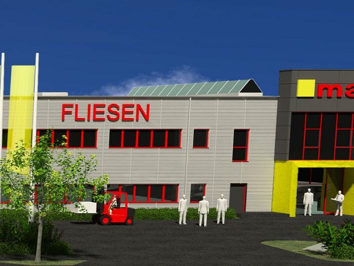 Erweiterung Mahler Fliesenausstellung München-Feldkirchen